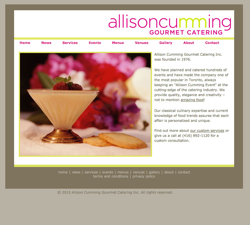 Allison Cumming Gourmet Catering Inc Logo