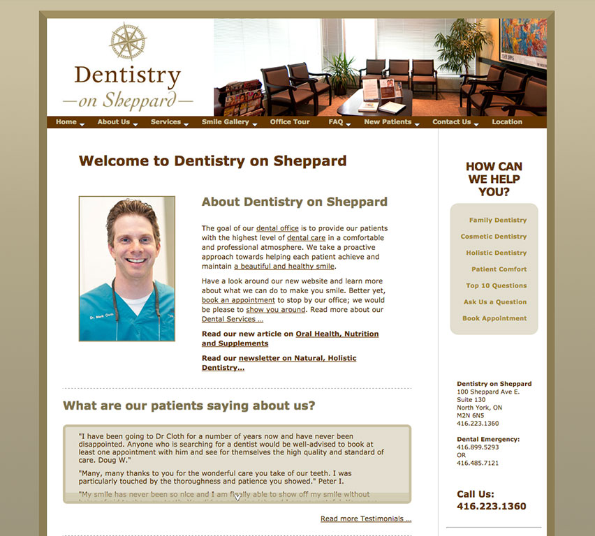 Dr. Cloth and Dentistry on Sheppard